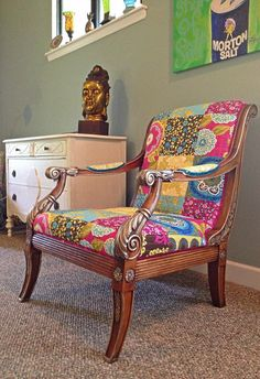 One of a Kind Chair Bohemian Style Colorful by BohoBeachBliss, $650.00