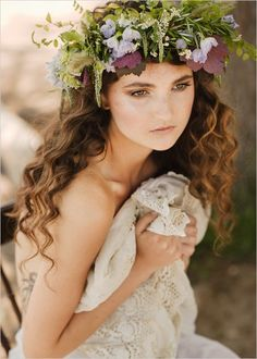 dreamy bride in a vintage gown