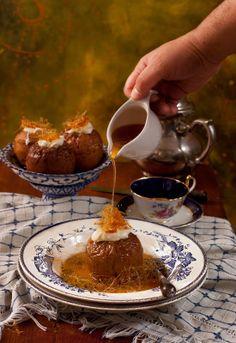 Receta 1004: Manzanas asadas con nata y caramelo » 1080 Fotos de cocina