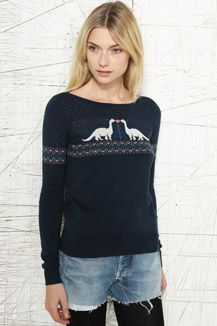 Cooperative Kissing Dinosaurs Pullover Sweater