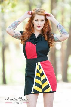 Queen of Hearts inspired apron alice in wonderland by HauteMessThreads, $65.00