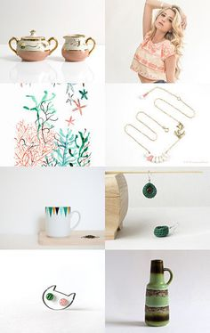 Green Coral by Jo on Etsy--Pinned with TreasuryPin.com