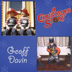 The cast and crew of A Christmas story are really just big kids at heart! This week we take look back at when they really were kids! Geoff Davin is the first to share, pictured here next to his fraternal twin brother (Geoff is on the left). Who knew that one day instead of dressing up like Batman, Geoff would be dressing up like Esther Jane and Scut Farkus! #christmas #achristmasstory #holiday #tennesseerep #nashville christma stori, achristmasstori, tennesse repertori, a christmas story, babi jumper, holidays, repertori theatr, kids, big kid