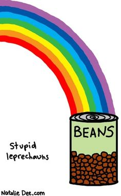 Comic by Natalie Dee: can o beans