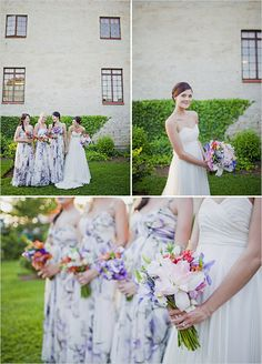 #floral bridesmaid gowns... Wedding ideas for brides, grooms, parents & planners ... https://itunes.apple.com/us/app/the-gold-wedding-planner/id498112599?ls=1=8 … plus how to organise an entire wedding ♥ The Gold Wedding Planner iPhone App ♥