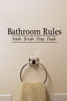 Bathroom Rules  Vinyl Sign/Sticker