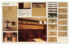Arts & Crafts wallpaper designs, natural colours