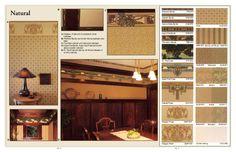 Arts & Crafts wallpaper designs, natural colours
