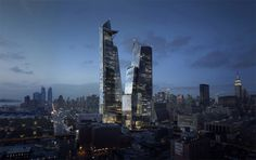 future Hudson Yards Towers, New York