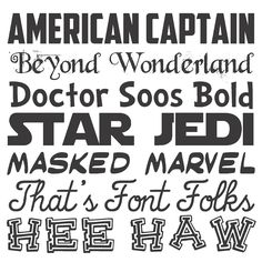 Some cute themed fonts