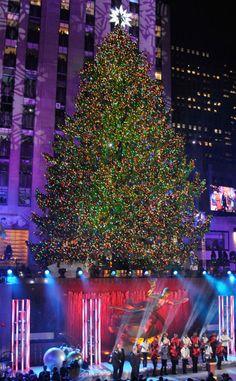 Attend the Rockefeller Center Christmas Tree Lighting. CHECK!  This year's Rockefeller Center Christmas Tree 2013!