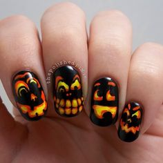 halloween by thepolishedpixie #nail #nails #nailart