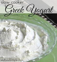 slow cooker greek yogurt | realfoodsimple.com