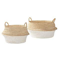 Round Belly Baskets – Set of 2 | Serena & Lily