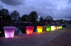 LED flower pots