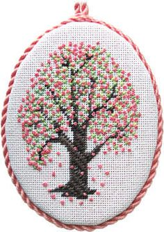 Counted Spring Tree Cross Stitch Tutorial