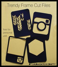 Trendy Frame Cut File freebie (Instagram, hexagons, feathers, arrows)