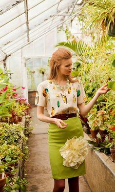 . color, dress, blous, pencil skirts, work outfits, greenhous, garden, flower, appl