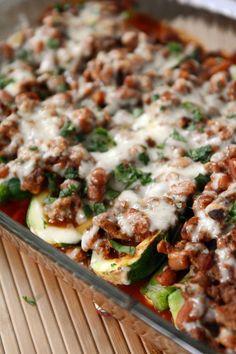 Stuffed Zucchini Enchilada Boats (low carb)