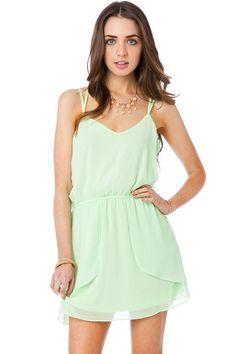 Back In Love Dress in Lime / ShopSosie #lime #dress #chiffon #spring #shopsosie