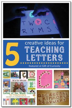 5 creative ideas for teaching kids the letters of the alphabet in a fun and developmentally appropriate way. #handsonlearning || Gift of Curiosity