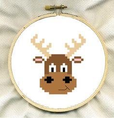 Cute Moose Cross Stitch PDF. £1,00, via Etsy.