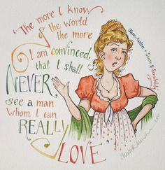 Jane Austen, 'Sense & Sensibility' original illustration: