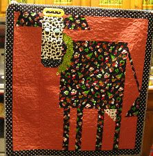 cow quilt, christmas, mooey christma
