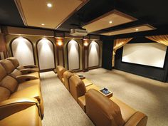 This theater offers up plenty of room for a crowd. Paneled walls and ceilings provide optimum acoustics.