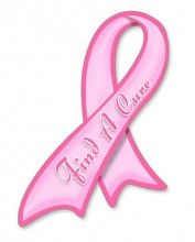 Pink Ribbon Car Decal to support Breast Cancer Awareness.