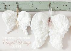 Coffee Filter Angel Wings {DIY}