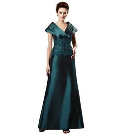 Whatabeautifullife Women's Taffeta V-Neck Short Sleeve Lace Decorated Mother of the Bride Dress Size 16 Color Green Whatabeautifullife,http://www.amazon.com/dp/B00CECOXLY/ref=cm_sw_r_pi_dp_lB6psb195M534X26