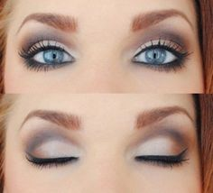 purple/light smoky eye