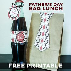 free father, father day, bag lunches, lunch bags, free printabl, fathers, gift idea