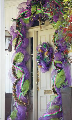 Mardi gras door decoration