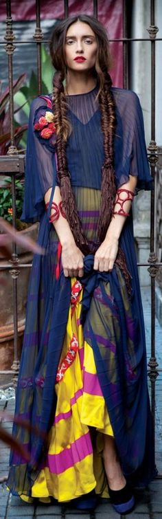 boho chic, bohemian fashion dresses, color, bohemian hair, fishtail braids, chiffon, bohemian style, bohemian mood, blues