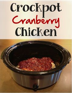Crockpot Cranberry Chicken Recipe! ~ from TheFrugalGirls.com {such an easy and yummy crockpot dinner ~ a taste of the holidays all year long!} #slowcooker #recipes