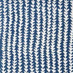 love this blue fabric from furbish studio!