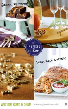 Don't miss a thing on Inspired by Charm! Yummy recipes, beautiful interiors and fun projects. Enter your email for posts delivered straight to your inbox: http://feedburner.google.com/fb/a/mailverify?uri=InspiredByCharm