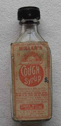 MILLER'S COUGH SYRUP 1910s Bottle by Christian Montone, via Flickr