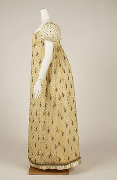 French cotton dress, 1805-1810