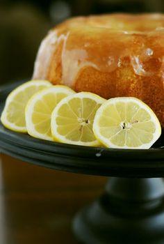 Grandmother's Lemon Pound Cake. Zesty lemon flavor with a syrupy, sweet glaze trickling down every slice.