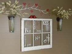 Valentine Word Window by Organize and Decorate Everything!