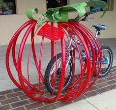 Tomato, apple or #bike rack?