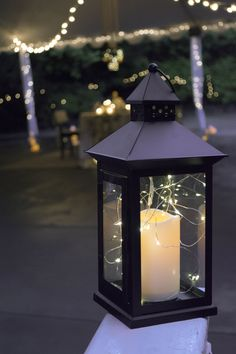 We added 3 strands of these LED fairy lights to this flameless candle lantern to get this awesome effect at Judy's surprise romantic date night. #itsjudyslife http://bit.ly/1tuTLEC