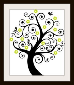 Fun Birds On A Flower Tree Cross Stitch Pattern.