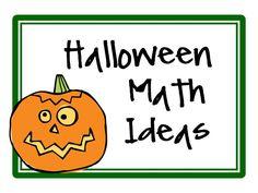 Great ideas for Halloween Math! Enjoy!