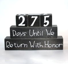 Missionary Countdown Blocks for Months and Days  - perfect to send to my parents for Christmas parent, missionari countdown, christma