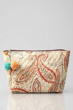 F + Jolie Quilted Paisley Makeup Bag #urbanoutfitters
