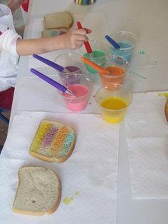Cooking up rainbow toast